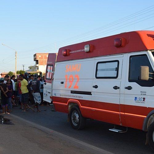 Idosa é atropelada por motocicleta em Paulistana e fica gravemente ferida