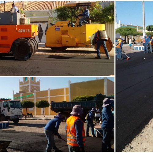 Caridade do Piauí avança em mobilidade urbana com asfaltamento de ruas e avenidas