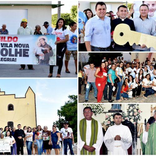 Acolhida e homenagens marcam a chegada do Pe. Gildo na paróquia de N. Sra. do Perpétuo Socorro de Fronteiras
