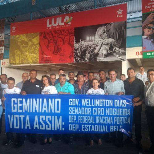 Prefeito Erculano e comitiva de Geminiano participam de convenções em Teresina