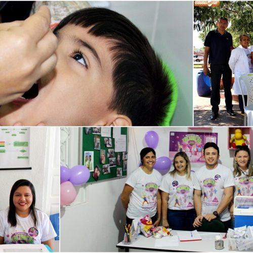Saúde de Jaicós realiza 'Dia D' de vacinação contra Sarampo e Poliomielite