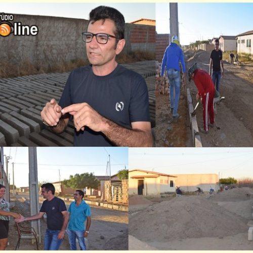 Iniciadas obras de pavimentação 8 mil metros quadrados de calçamento em ruas de Betânia