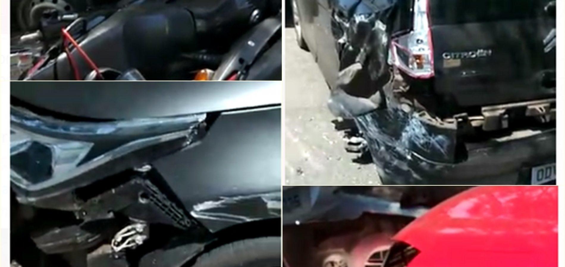 Vídeo: caminhão de laticínios desgovernado bate em vários veículos no Piauí