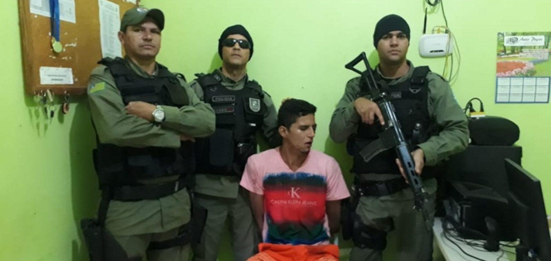 Polícia Militar prende foragido da justiça em Marcolândia