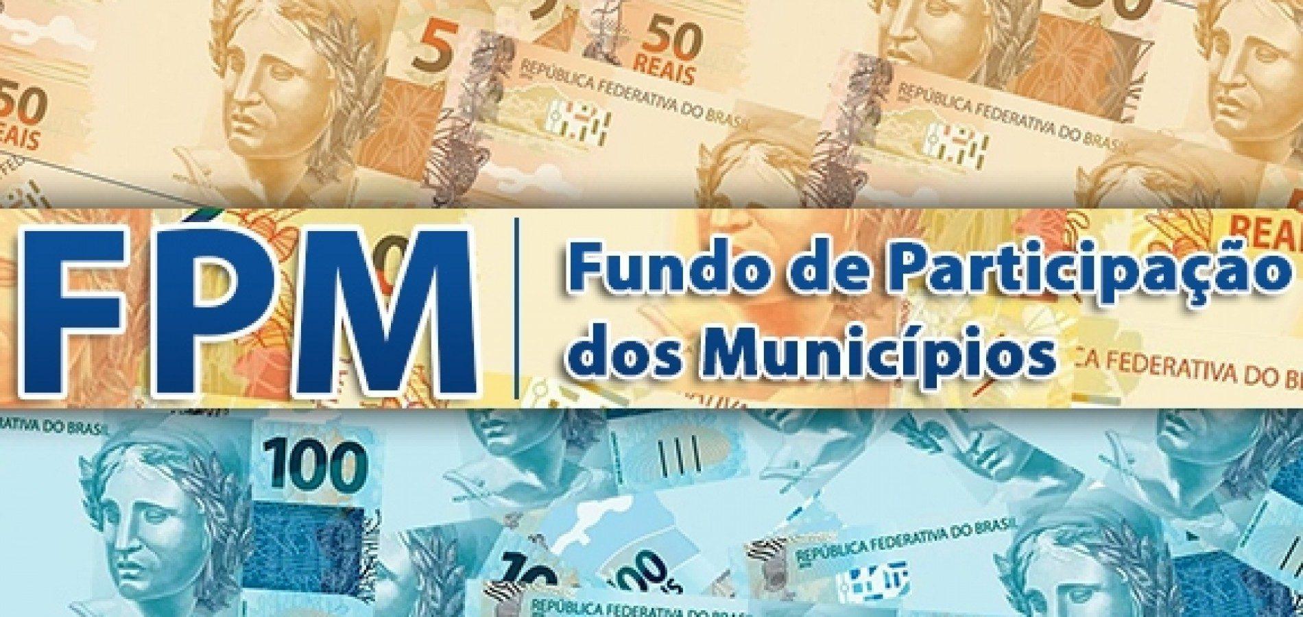 Municípios recebem último repasse do FPM nesta sexta