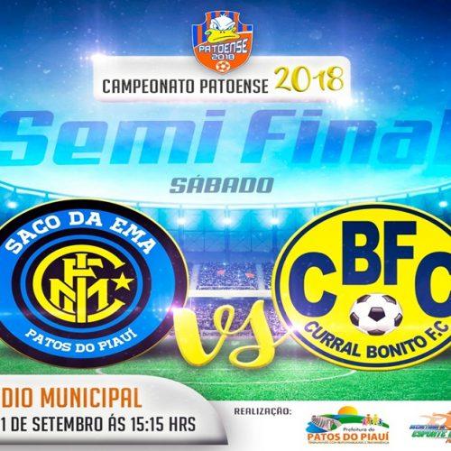 PATOS | Semifinais do Campeonato de Futebol Amador acontecem neste final de semana
