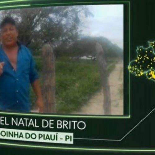 """Morador de Alagoinha do Piauí participa do quadro da Globo """"O Brasil que eu quero"""""""