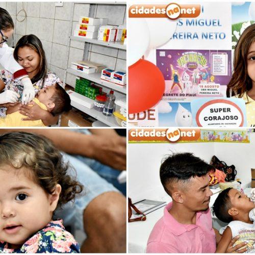 Secretaria de Saúde de Alegrete do Piauí promove 'Dia D' de vacinação contra Sarampo e Poliomielite