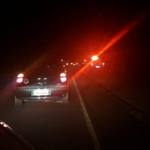 Animal provoca colisão entre carro e moto na PI-113