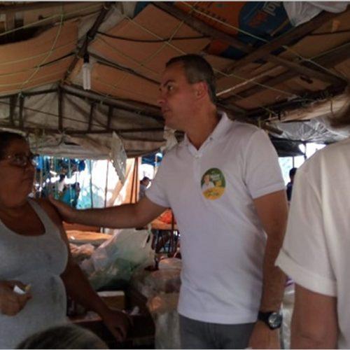 Comerciantes de Picos alertam candidato sobre falta de estrutura para o comércio local