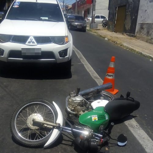 L200 colide com motocicleta da PM no  Piauí