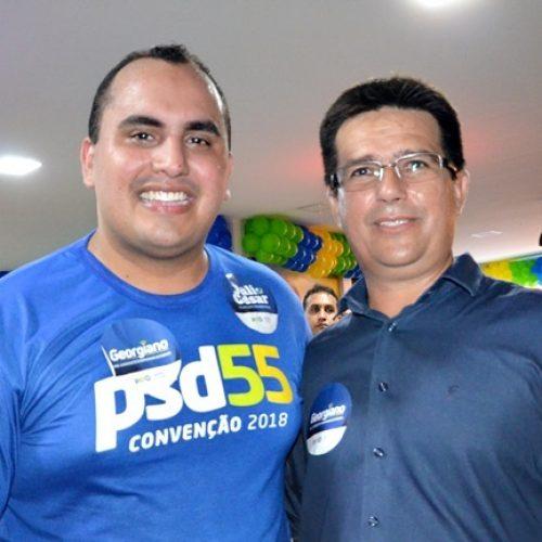 Prefeito de Caldeirão Grande participa de convenção do PSD em Teresina