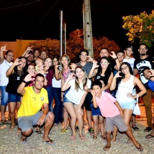 Eleitores de Ciro Gomes realizam ato em apoio a sua campanha em Pio IX