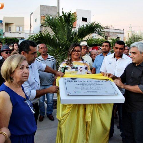 Prefeito Neném de Edite inaugura praça Geraldo Coutinho Lélis em Jaicós