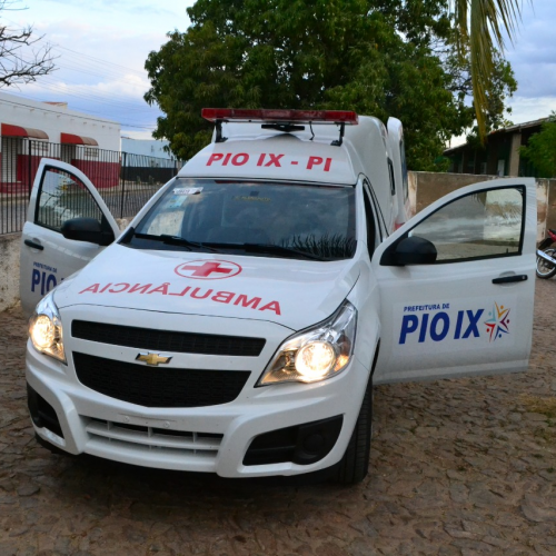 Hospital Municipal de Pio IX é beneficiado com nova ambulância
