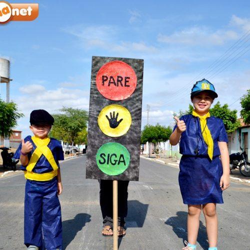 Trânsito Legal é tema de aula de campo na Creche Mãe Maria em Alegrete do Piauí