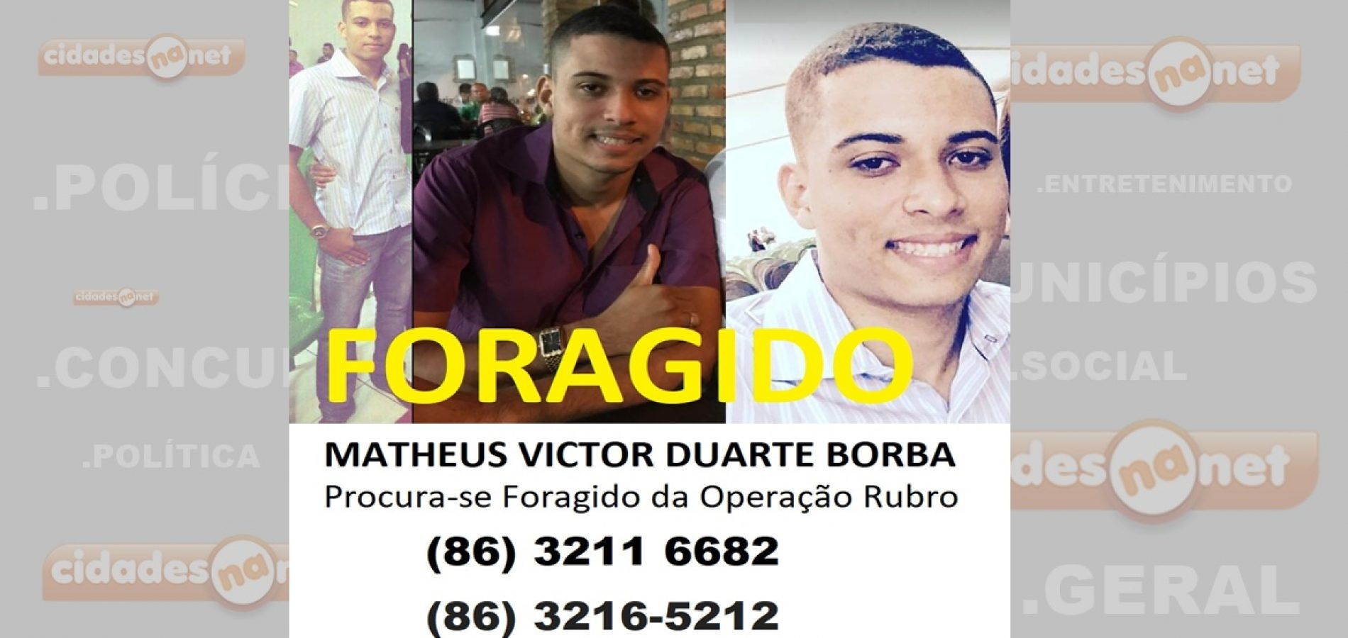 Polícia Civil procura principal alvo da Operação Rubro no Piauí