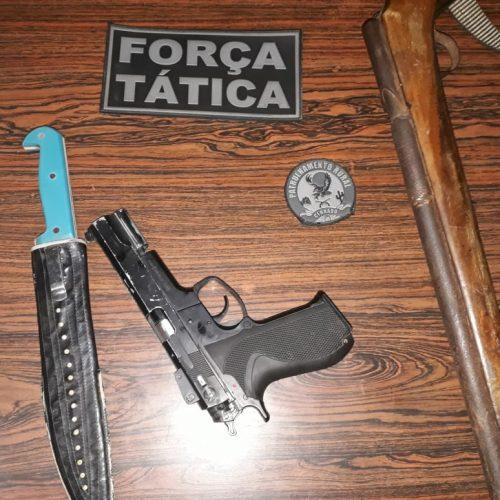 PM prende trio acusado de roubo armado no interior de Paulistana