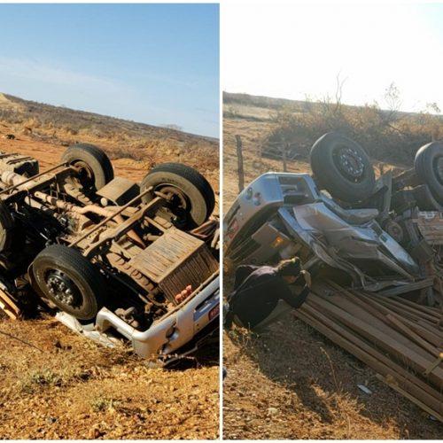 Caminhão tomba e deixa motorista morto próximo a Jacobina do Piauí
