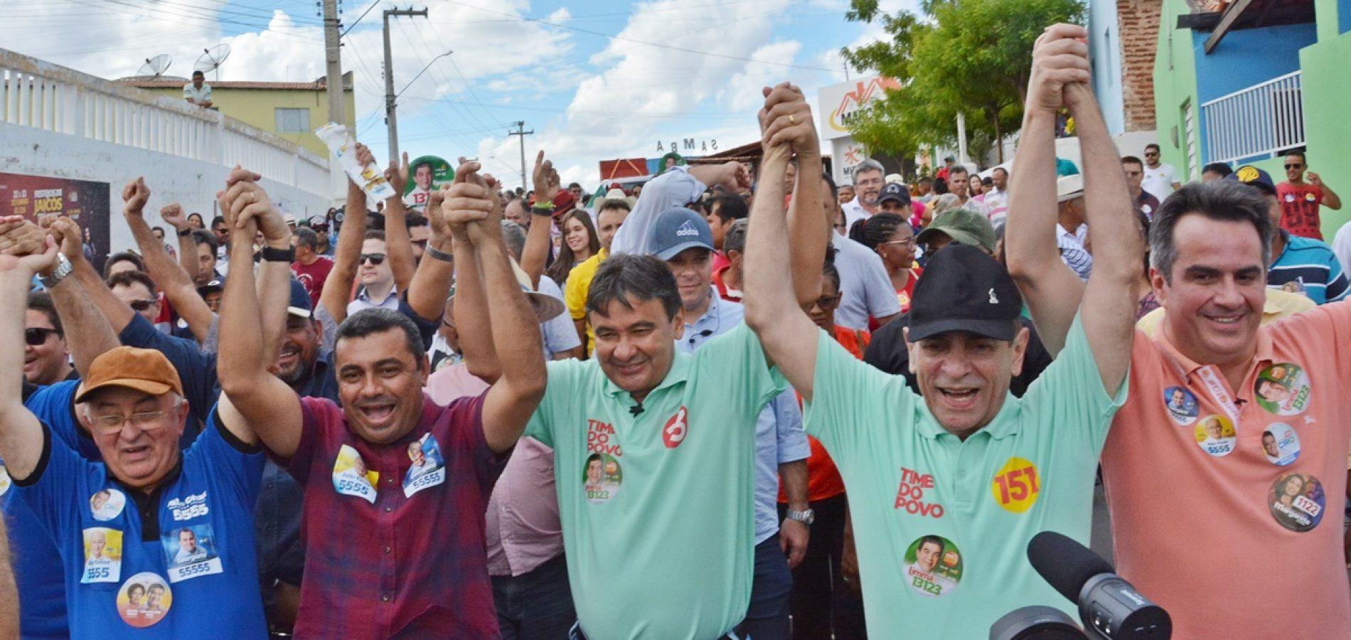 Governador Wellington Dias faz campanha em Jaicós e volta a falar sobre o abastecimento de água