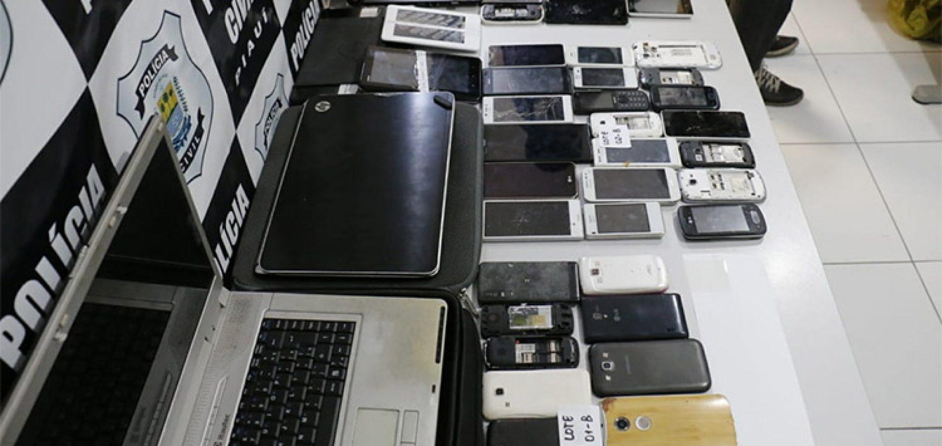 iPhones apreendidos em operação estão avaliados em R$ 500 mil