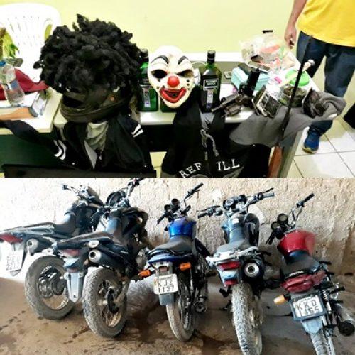 Polícia prende seis pessoas suspeitas de assaltos na região de Marcolândia, recupera motos e outros objetos