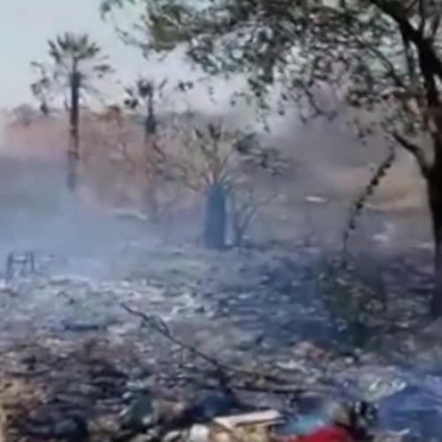Incêndio quase atinge casas e causa pânico entre moradores do Piauí