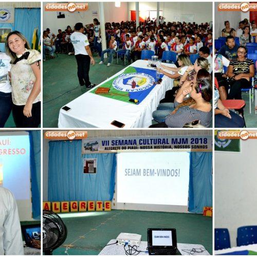 ALEGRETE | Palestras com os pais e alunos marcam 1º e 2º dia da VII Semana Cultural MJM; fotos