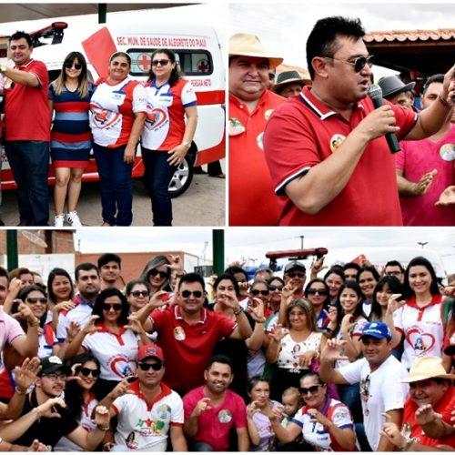 Prefeito Márcio Alencar adquire e entrega nova ambulância à Saúde em Alegrete do Piauí