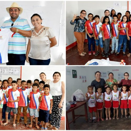 Alunos da rede municipal de ensino de Alegrete do Piauí recebem 1.080 novos fardamentos