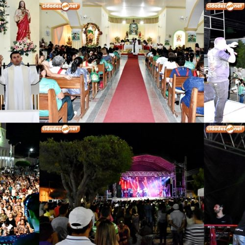 FRONTEIRAS   Missa e show católico com Batista Lima e Padre Chagas marcam a 7ª noite dos festejos da padroeira