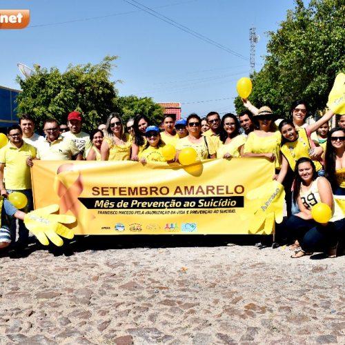 Francisco Macedo realiza passeata pela valorização da vida e prevenção ao suicídio