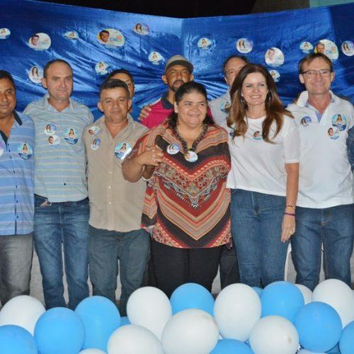 Em campanha, Iracema Portella e Belê Medeiros participam de reunião em Massapê do Piauí