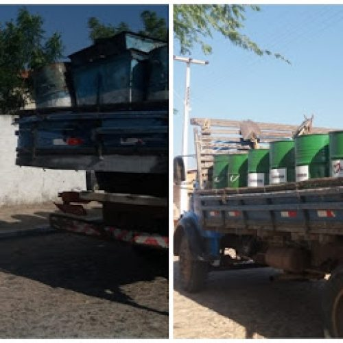 FRONTEIRAS | Prefeitura distribui 150 novos lixeiros no centro e nos bairros da cidade