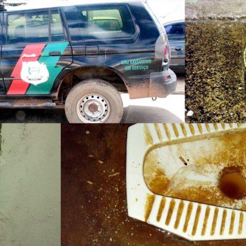 Delegacia Regional em Picos sofre com infiltrações e falta de combustível para viaturas; veja fotos