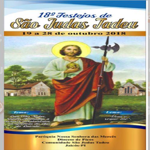 JAICÓS   Igreja divulga programação dos festejos de São Judas Tadeu