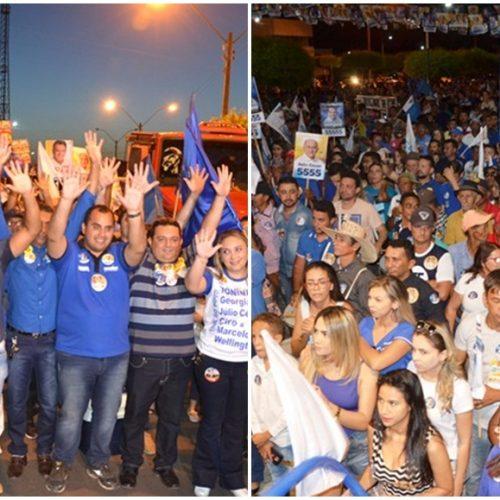 Prefeito Toninho promove grande manifestação política em apoio à candidatura de Georgiano Neto