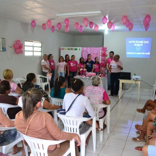 Mulheres são homenageadas durante programação do Outubro Rosa em Pio IX