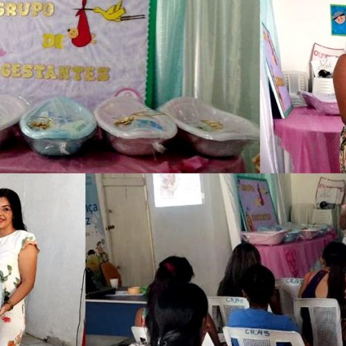 Prefeitura de São Julião promove encontro mensal e entrega enxoval do bebê para mães gestantes