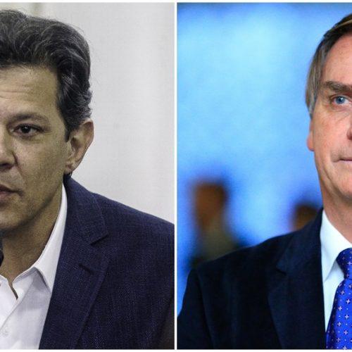 Vox Populi aponta empate técnico entre Jair Bolsonaro (PSL) e Fernando Haddad (PT); veja