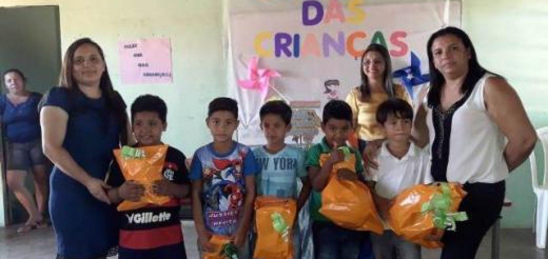 Alunos de Vera Mendes participam de momento comemorativo do Dia das Crianças