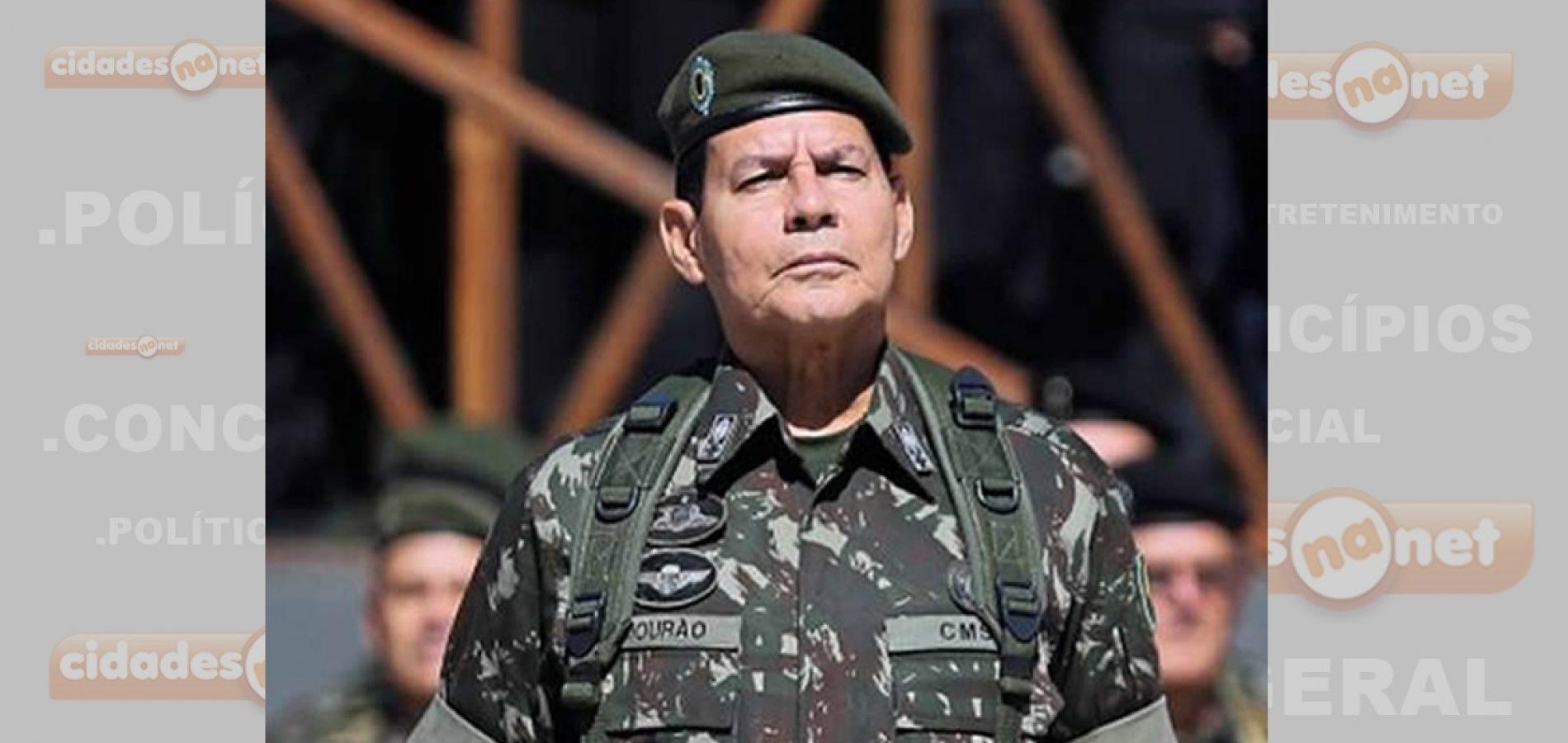Vice de Bolsonaro descarta mais verba para setor militar