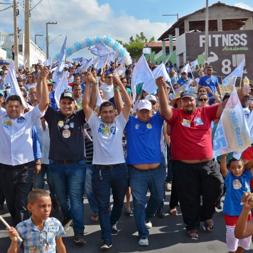 Deputado Georgiano Neto participa de caminhada na feira de Jaicós