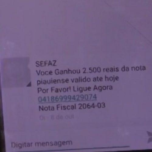 Vítima cai no golpe da 'Nota Piauiense' e transfere R$ 5,5 mil para bandidos