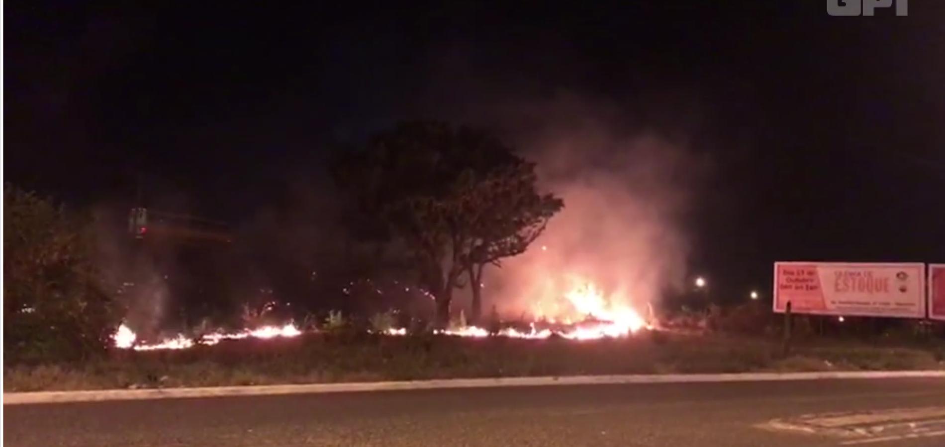 Incêndio atinge vegetação próxima a Terminal de Petróleo no Piauí
