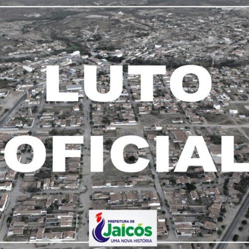 Prefeito decreta luto oficial de três dias em Jaicós por morte de Zé Nicolau