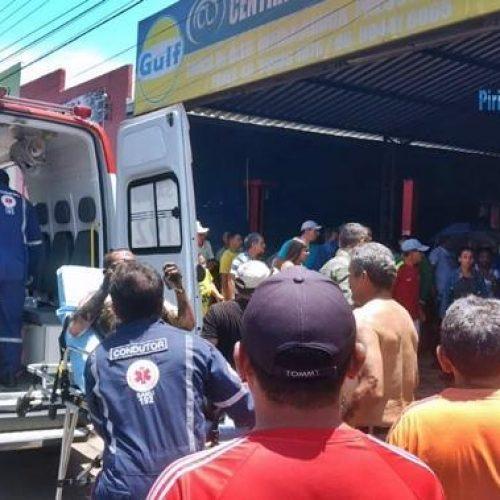 Mecânico tem corpo queimado após explosão em oficina no Piauí