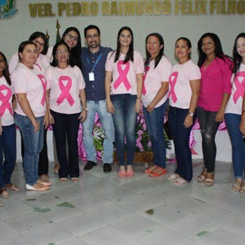 Saúde de Simões realiza palestra sobre o câncer de mama em alusão ao outubro rosa