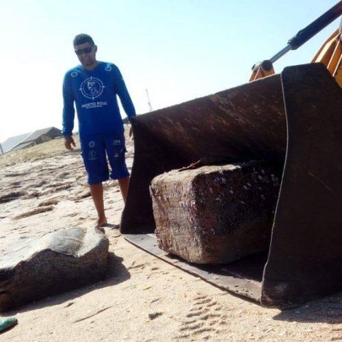 Sobe para 30 número de pacotes de borracha encontrados em praias do Piauí