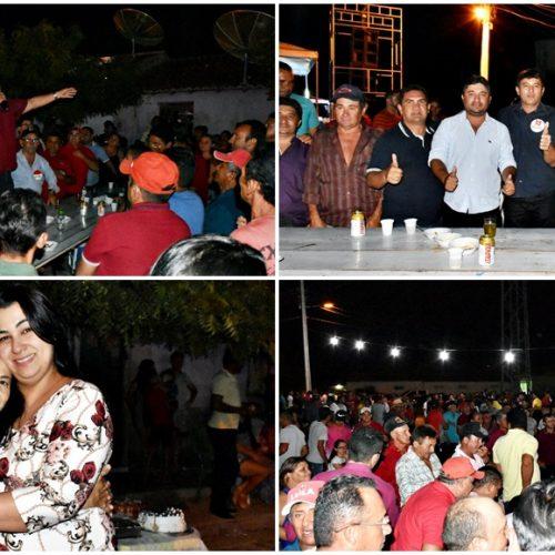 Em Alegrete do PI, Márcio Alencar comemora votação de seus candidatos com a população de Malhada Alta; fotos